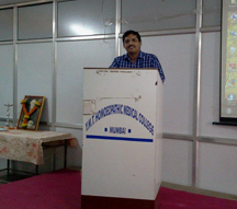 Dr.Mandar at a study session at YMTHMC
